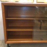 mid century modern bookcase with glass doors vintage mid century modern bookcase with three shelves