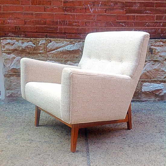 Jens Risom U350 Lounge Chair W/ New Upholstery | Gorgeous Vintage Danish  Modern Jens Risom