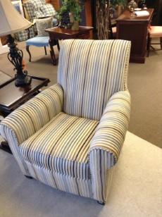 CHAIR | Ethan Allen Striped Upholstered Chair 36u201dW, 31u201dD, 36