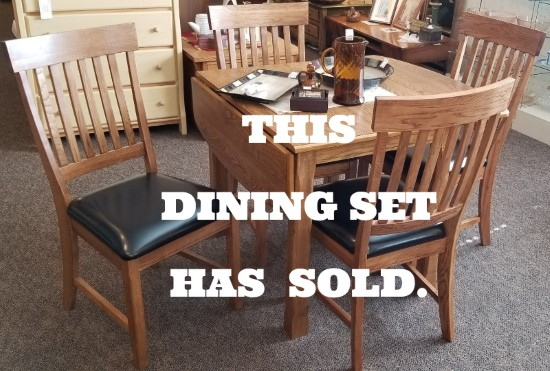 DROP LEAF DINING TABLE WITH 4 CHAIRS