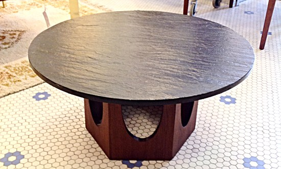 Mid Century Harvey Probber Slate Top Coffee Table | Gorgeous Round Slate  Topped Coffee Table With