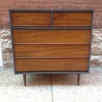 Mid Century Highboy Dresser By Dixie Furniture Co. | Walnut Mid Century  Highboy Five Drawer