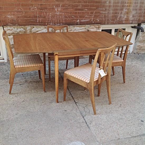 Mid Century Drexel Profile Drop Leaf Dining Set | Gorgeous Mid Century Drop  Leaf Table And