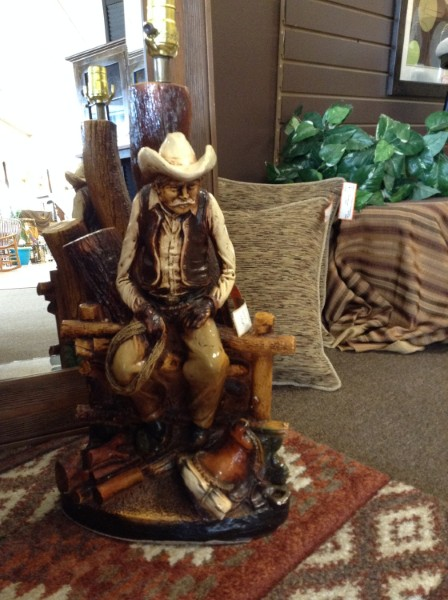 Perfect TABLE LAMP  (no Shade) | Vintage California Original Cowboy Table Lamp NOTE: