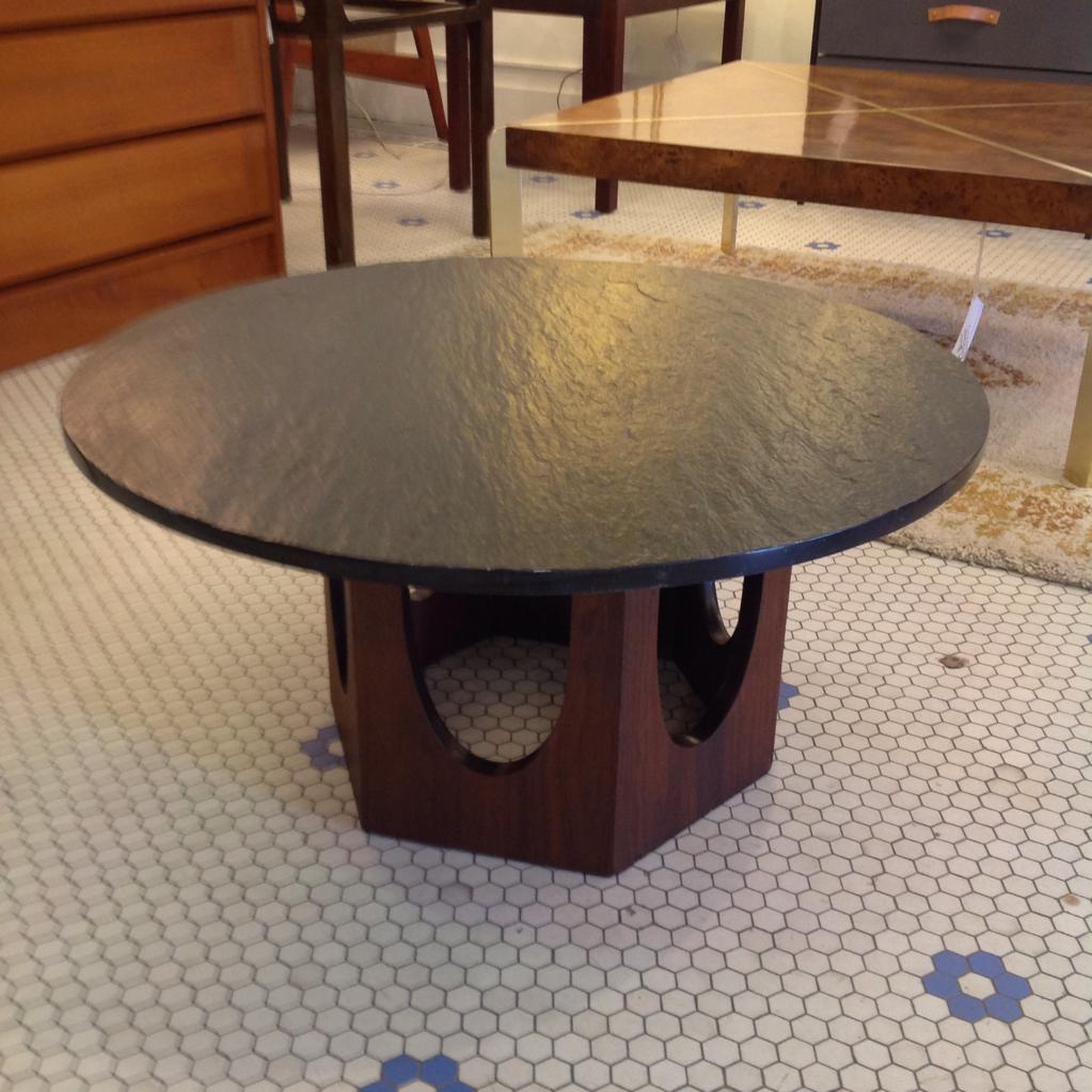 mid century harvey probber slate top coffee table gorgeous round