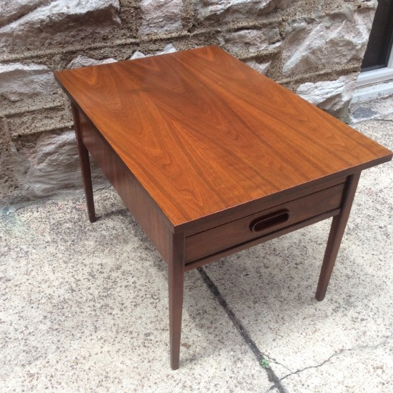 Walnut SideTable By Jack Cartwright For Founders | Gorgeous Two Drawer  Walnut Side Table By Founders