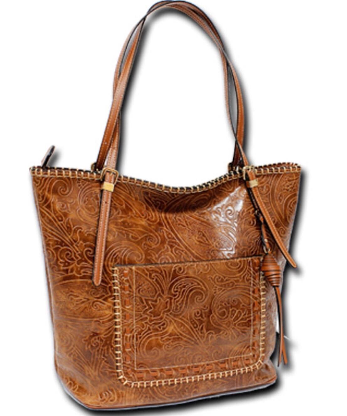 02af6c380b Tooled Leather Handbag by MC Handbags