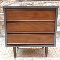 Refurbished Vintage Mid Century Modern Night Stand | Vintage Walnut Mid  Century Modern Nightstand By Dixie