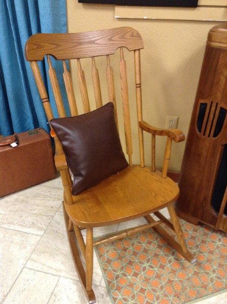 CHAIR | Oak Rocking Chair From Union City Chair Factory Reduction Schedule:  05/28