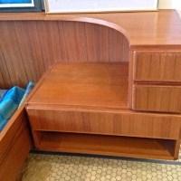 danish teak platform bed wattached nightstands vintage queen size danish modern teak platform