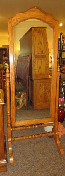 PENNSYLVANIA HOUSE FREE STANDING FULL LENGTH MIRRO | This Mirror Is Made Of  Dark Oak