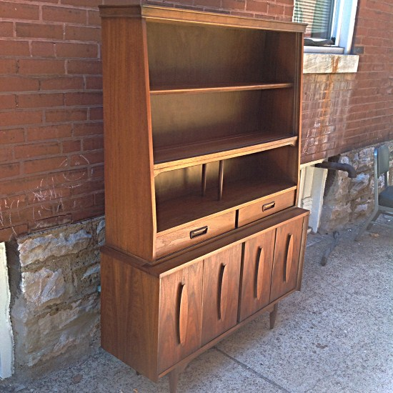 Superieur Mid Century Walnut Hutch By Garrison Furniture Co. | Great Walnut Hutch  With Shelves And