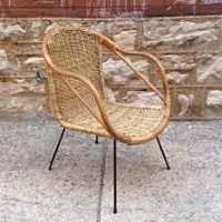 Mid Century Modern Vintage Wicker Chair Cal Asia | Nice Mid Century Modern  Vintage Wicker
