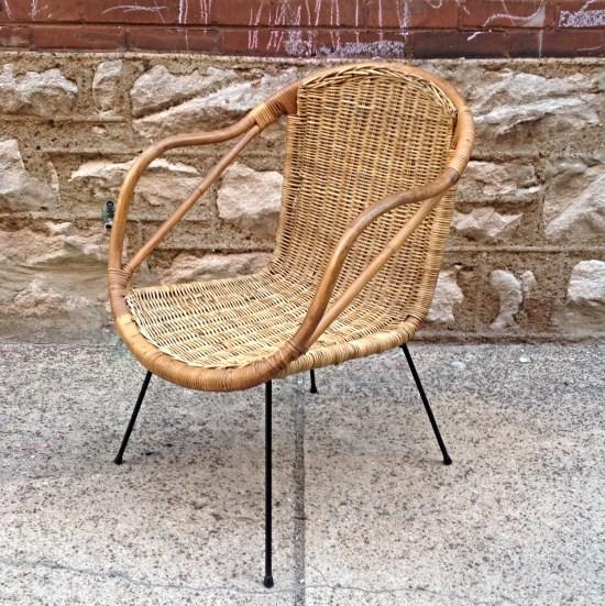 Exceptionnel Mid Century Modern Vintage Wicker Chair Cal Asia | Nice Mid Century Modern Vintage  Wicker